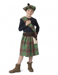 Skottisk kostume grøn - barn