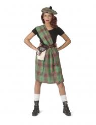 Grøn skotte kostume - kvinde