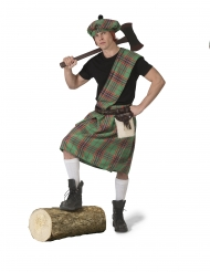 Grøn skotte kostume - mand