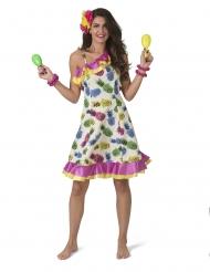 Kjole med ananasmotiver - kvinde