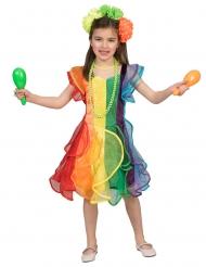 Regnbue danser kostume - pige