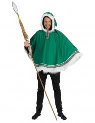 Grøn eskimo poncho - mand