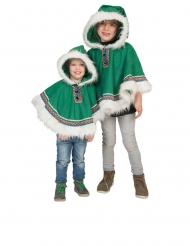 Grøn eskimo poncho - baby