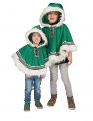 Eskimo poncho grøn - dreng