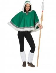 Grøn eskimo poncho - kvinde