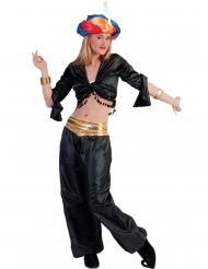 Sort top danserinde - kvinde