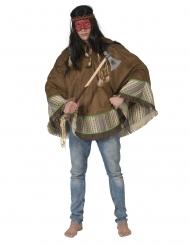 Luksus indianer poncho - voksen