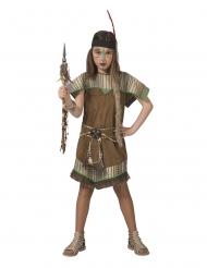 Indianer kostume brun - pige