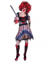 Rød klovnekjole - kvinde