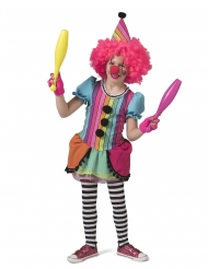 Den glade regnbueklovn kostume - pige