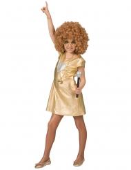 Guldfarvet disko kjole - pige