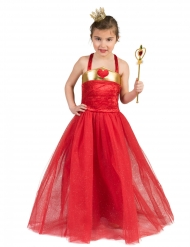 Hjerte prinsesse kostume - barn