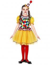 Farvet frøken klovn kostume - pige