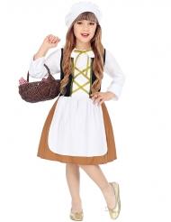 Middelalder tjener kostume - pige