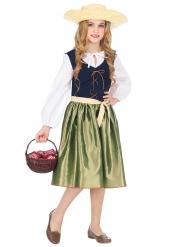 Renæssance kostume grøn - pige
