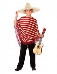 Mexicansk poncho kostume - dreng
