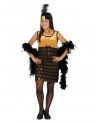 Sort og guld charleston kostume - pige
