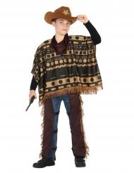 Cowboy kostume med poncho - dreng