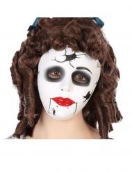 Sprækket dukkemaske - voksen