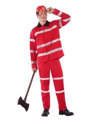 Brandman kostume rød - teenager