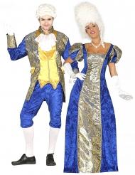 Par kostume blå markise - voksen