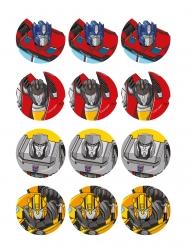 12 Sukkerdekorationer til småkager Transformers™ 5,8 cm