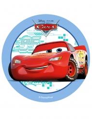 Spiselig kagedekoration disk Cars™ blå 14,5 cm