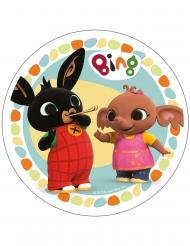 Spiselig kagedekoration disk Bing™ flerfarvet 21 cm