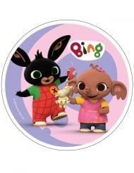 Spiselig kagedekoration disk Bing™ lyserød 21 cm