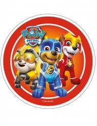 Spiselig kagedekoration disk Paw Patrol™ rød 21 cm