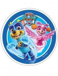 Spiselig kagedekoration disk Paw Patrol™ blå 21 cm