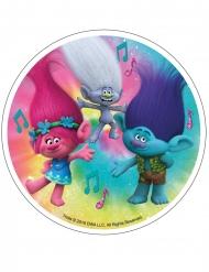 Spiselig kagedekoration disk Trolls™ 21 cm