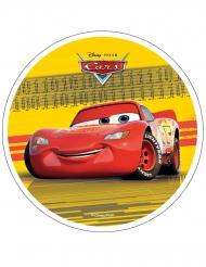 Spiselig kagedekoration disk Cars™ gul 21 cm