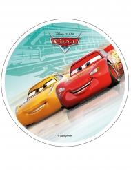 Spiselig kagedekoration disk Cars™ turkis 21 cm