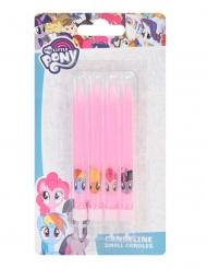 4 Fødselsdagslys My Little Pony™ lyserød 9 cm