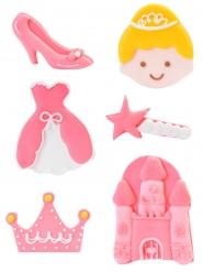 6 Sukkerfigurer prinsesse 4 cm