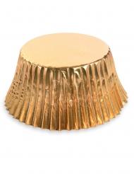 50 Cupcake forme i metallisk guld