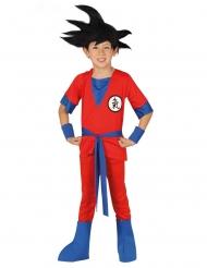 Ninja kostume manga rød - dreng
