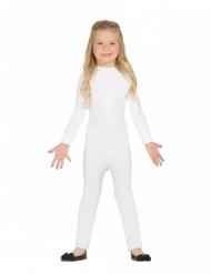 Gymnastikdragt kostume hvid - barn