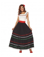 Lang mexicansk kjole - kvinde