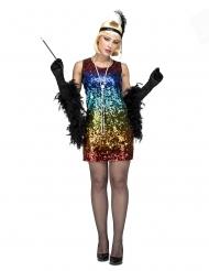 Charleston danser kostume farvet - kvinde