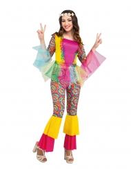 Hippie kostume med tylskørt - kvinde