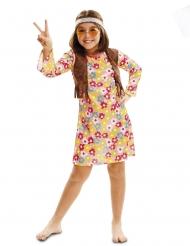 Den blomsterglade hippie - pige