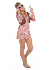 Blomster hippie kostume - kvinde