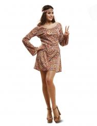 Psykedelisk hippie kostume - kvinde