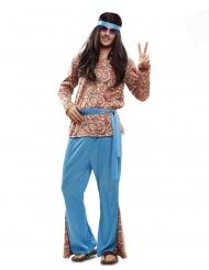 Psykedelisk hippie kostume - mand