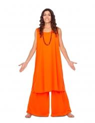 Orange disciple kostume - kvinde