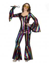 Regnbue disko kostume - kvinde