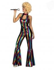 Disko regnbue-heldragt kostume - kvinde