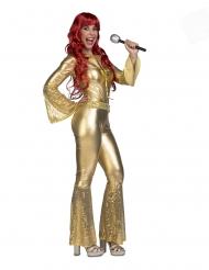 Guldfarvet disko danser - kvinde